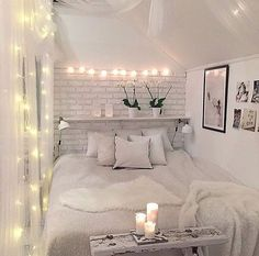 Fairy lights in bedrooms | Bedrooms V Lights – Around the bed head ...