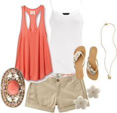 coral - Polyvore