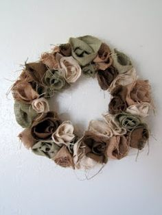 Princess E. and Me: Burlap Rosette Wreath Tutorial