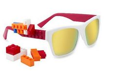 Bricks; these sunglasses feature Legos on the sidepieces