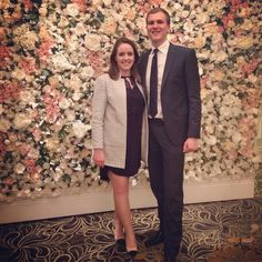 Doing our best kimye #flowerwall #wedding by catojen