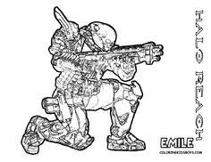 halo coloring pages reach coloringpage to print emile