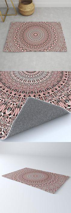Light Pink Floral Mandala Magic Rug by David Zydd #MandalaRug #BestRugs #GraphicDesign #Artwork #FloralArt (tags: boho, home, product design, art, decorating, decor, home decor, magic, room, home decoration, gift design, sacred, rug, mandala artwork, mandala, geometrical, abstract, yoga, polyester, gift) Mandala Pattern, Mandala Design, Mandala Artwork, Cool Rugs, Bohemian Decor, Floral Design, Bedroom Decor, Pink, Gifts