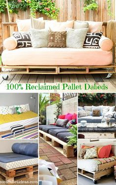 12 DIY #Pallet Daybed Ideas - 1001 Pallet Ideas