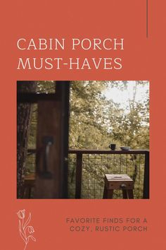 These rustic, cabin-ready finds will make your porch the place to be this spring. #spring #decor #porch #cabin #rustic #cozy