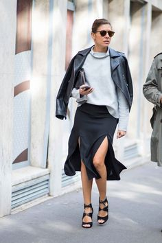 Classic, Button-Down Shirts Were A Popular Layering Piece in Paris Over the Weekend - Fashionista