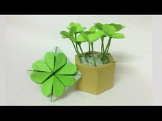 Handmade Clover Origami - Lucky leaf - DIY by PaperPh2 - YouTube