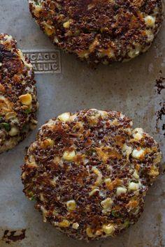 Vegetarian quinoa burger patties