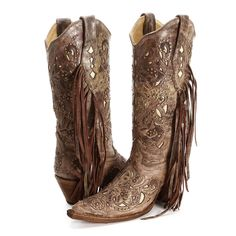 BootDaddy Collection with Corral Fringe Cowgirl Boots|Mid Calf Boots