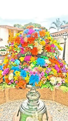 Fuente de flores Pueblito paisa