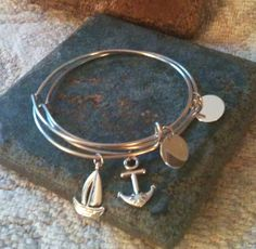 Alex and ani Inspired Sailboat and Anchor by GrecoGirlJewelry, $20.00