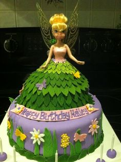 cake+central+gallery   tinkerbell doll cake dress and stand are chocolate cake with chic ...