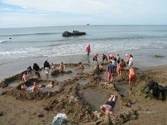 Hot Water Beach, New Zealand. Taken by a Kiwi Experience passenger.