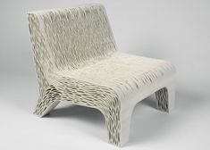 Conceptual chair influenced by plant cells that could be 3D-printed from a single material.