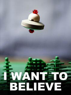 I Want To Believe in Lego by Balakov. The x files! Legos, Lego Worlds, Lego Design, Geek Out, Lego Brick, Lego Creations, Believe, Geek Stuff, Toys