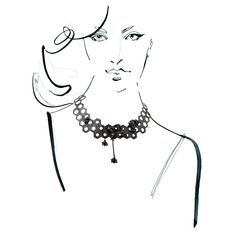 Necklace from APIS collection by Anna Orska. Illustrated by Anna Halarewicz.