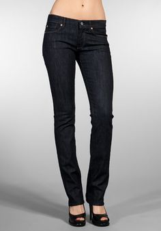 7 For All Mankind straight leg. I hate buying jeans but these fit like they were tailored.