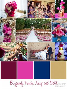 Such a fun color scheme! The burgundy, fuchsia, navy and gold all come together perfectly in this fun disney themed wedding.