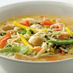 Thai Recipes, Paleo Recipes, Lunch Time, Soups And Stews, Japchae, Thai Red Curry, Food And Drink, Coconut, Yummy Food