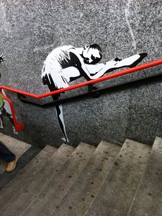 Cool Street Art & Inventive Urban Art - Mr Pilgrim Graffiti Artist