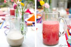 Lovely Libations: Homemade Horchata and Agua Fresca (Lauren Conrad) Paleo Alcoholic Drinks, Healthy Drinks, Healthy Recipes, Refreshing Drinks, Summer Drinks, Fun Drinks, Beverages, Juice Smoothie, Smoothie Drinks