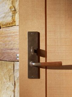 Sun Valley Bronze Contemporary Mortise Lock Set with Wood Lever.