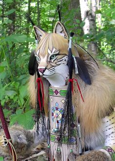 Bobcat Manitou Spirit or Totem by FreedomGallery on Etsy, $945.00