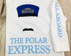 POLAR EXPRESS TSHIRT, Christmas Train Conductor, All Aboard tee, I believe in Santa, Funny Christmas tee, Cute Xmas tee