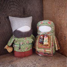 """Купить Куколки-крупенички народные русские """"Теплая осень"""" - разноцветный, народная кукла, крупеничка, зерновушка"""