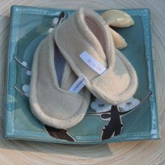 Fortune cookie slippers by sushibooties on Etsy.