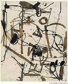""""""" Richard Diebenkorn """"Untitled (Berkeley)"""" ink on paper """" Abstract Drawings, Abstract Images, Cool Drawings, Abstract Art, Abstract Paintings, Abstract Landscape, Richard Diebenkorn, Bay Area Figurative Movement, Art Brut"""