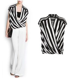 Gorgeous striped crossover top  //long shell, not a tube top,