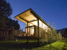 Rolling Hut, by Tom Kundig of Olson Sundberg Kundig Allen Architects, Seattle. Designed as a modern alternative to camping, they're for rent in the Melthow Valley, Washington.