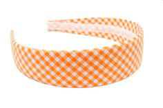 """""""Endzone Orange Gingham Headband"""" from High Cotton is perfect for Game Day in Tennessee!"""