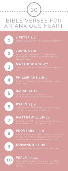 10 Bible Verses To Help Calm An Anxious Heart God calls us to live a life free from worry and. Short Bible Verses, Bible Verses Quotes, Bible Scriptures, Worry Bible Verses, Bible Quotes About Worry, Worrying Quotes Bible, Bible Verses About Peace, Inspiring Bible Verses, Positive Bible Verses