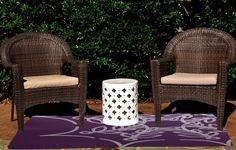 Web Art Holiday Print Purple Outdoor Indoor/Outdoor Area Rug