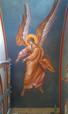 Religious Icons, Religious Art, Christian Artwork, Angel Warrior, Religious Paintings, Byzantine Icons, Angel Pictures, Archangel Michael, Orthodox Icons