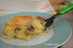 Tortino di patate funghi e mozzarella