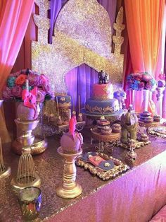 Bee Unike Events 's Birthday / Arabian Nights - Photo Gallery at Catch My Party Festa Tema Arabian Nights, Arabian Nights Prom, Arabian Nights Theme, Jasmin Party, Princess Jasmine Party, Disney Princess Party, Aladdin Birthday Party, Aladdin Party, Birthday Parties