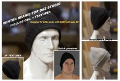 FREEBIE- Winter Beanie for G2M/F G3F/M + OBJ + TEX by HeavenSkies