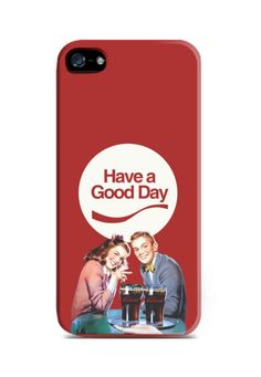 Have a Good Day by Iconesia. iPhone 5 case with vintage illustration print on the back, this cool case also available for iPhone 4, 4s, 5c, Samsung Galaxy Note 2, 3, Samsung Galaxy S3, S4, S5, Samsung Galaxy Grand, Xiaomi Redmi. http://www.zocko.com/z/JFR1N