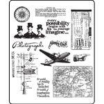 Shop for Tim Holtz Large Cling Rubber Stamp Set-Warehouse District. Get free delivery On EVERYTHING* Overstock - Your Online Scrapbooking Shop! Tim Holtz Stamps, Digi Stamps, Stencils, Stamp Storage, Stampers Anonymous, Ranger Ink, Simon Says Stamp, Clear Stamps, Word Art