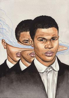 """"""" """"In Between"""" Distorted Illustrations by Henrietta Harris Gorgeous abstract portraits by New Zealand artist Henrietta Harris. Abstract Portrait, Portrait Art, Distortion Art, Art Alevel, Gcse Art Sketchbook, Renaissance, A Level Art, Painting Gallery, Glitch Art"""