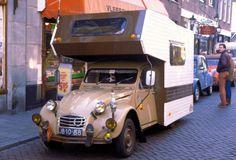 "Citroen camper Den Briel 1982 ""OK, slowest holiday ever. Unless you do the one-horse camper of course. Camper Caravan, Truck Camper, Mini Camper, 2cv Sahara, Cool Rvs, Psa Peugeot Citroen, Classic Campers, 2cv6, Vintage Rv"