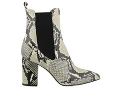Paris Texas Embossed Block Heel Boots In Multi Block Heel Boots, Block Heels, Beige Ankle Boots, Paris Texas, Python Print, Snake Print, The Beatles, Booty, Composition