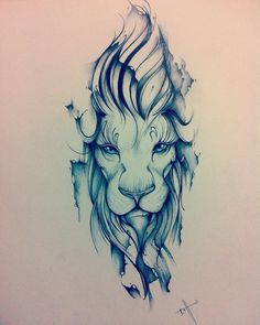 Lion, the king. Tattoo design. #LionTattoo
