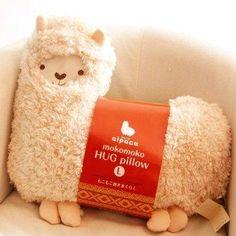 Aunt Merry Mokomoko Llama Alpaca Hug Pillow Cushion Doll (beige)