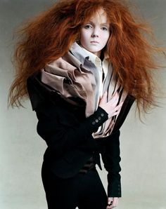 Lily Cole photographed by Steven Meisel for Vogue Italia, July 2003