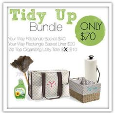 Thirty-One Gifts Keeping It Clean Solutions #ThirtyOneGifts #ThirtyOne #Personalization #TidyUp #ZipTopTote #OrganizedHome