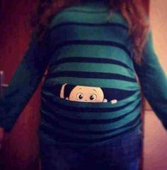 Peek-a-boo baby Super cute maternity shirt